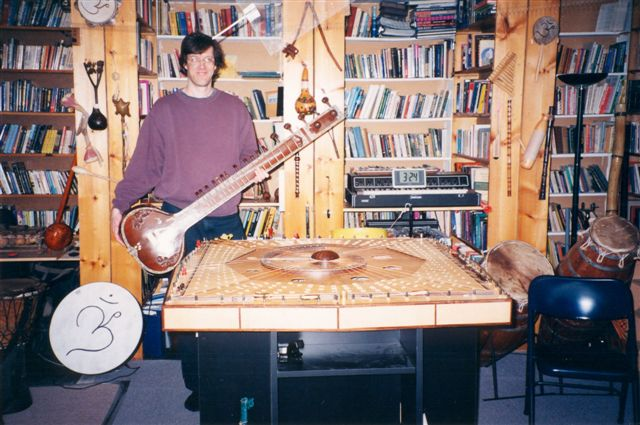 Brian Roche with Sitar and Celestial Harp