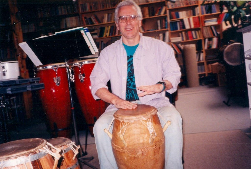 Robin on the Panlogo Drum