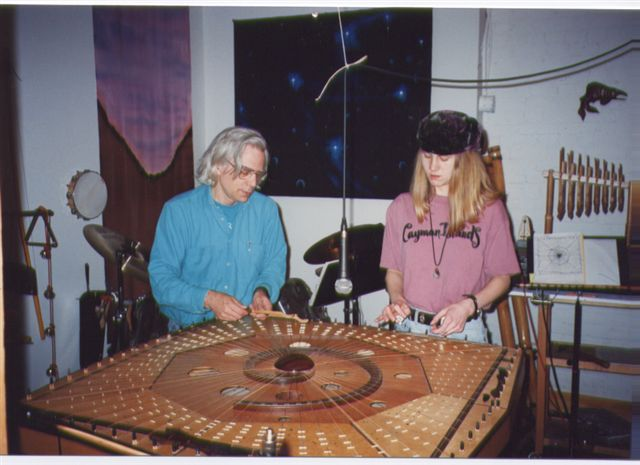 Lisa Swarbrick and Robin on Celestial Harp-2